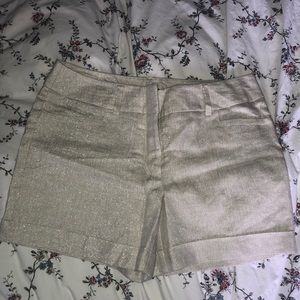 Silver Sparkle Shorts
